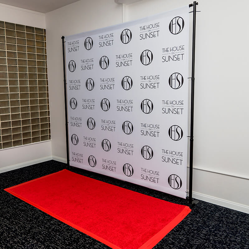 8 X 8 Backdrop Stand And Red Carpet Package