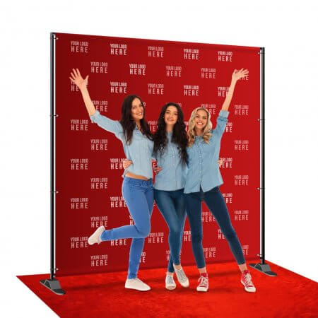 8 by 8 foot step and repeat backdrop