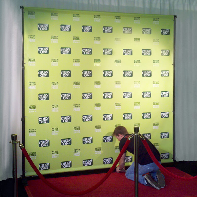 8 X Step And Repeat Backdrop Most Por Size For Red Carpet Events