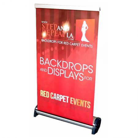 A retractable banner stand