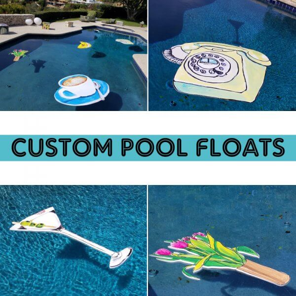 Custom cut Pool Floats