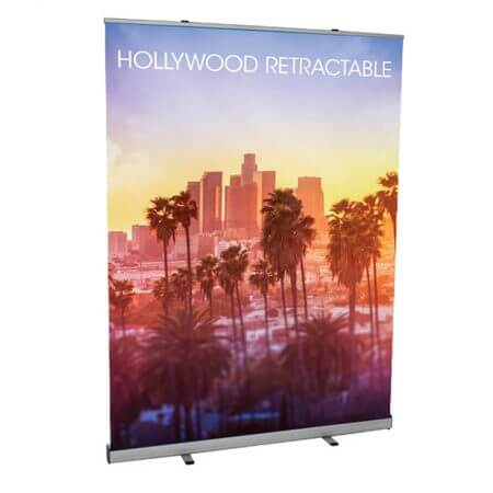 "Hollywood Retractable Banner! Easy set up! 59"" x 78.5"""
