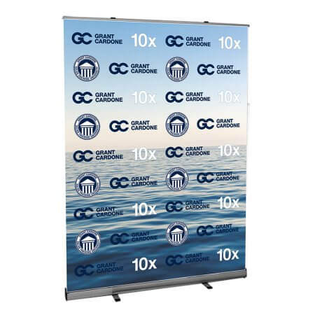 step and repeat retractable stand 59 inches wide