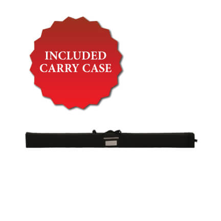 The carry case is included!