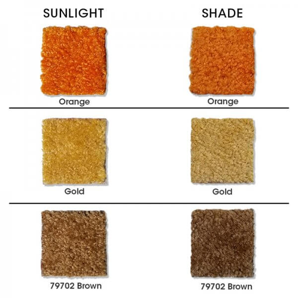 Carpet color swatches