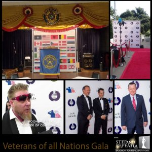 Veterans all Nations Gala Red carpet event