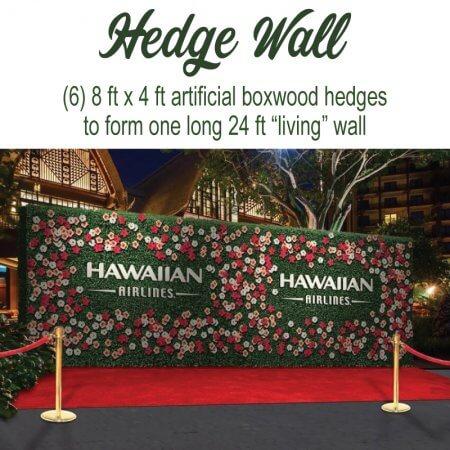 """Hedge Walls for custom """"living"""" media walls!"""