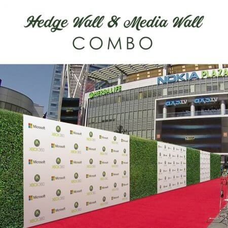 Hedge and Media Wall combo