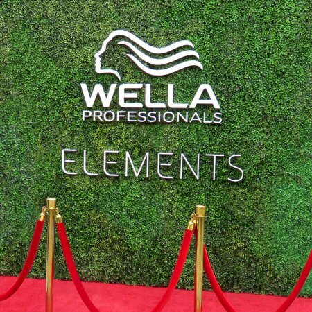 An impressive Hedge Wall for Wella Professionals