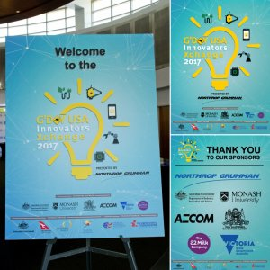 We printed the info-graphics and welcome signage for the G'Day USA Innovators Xchange in Los Angeles.