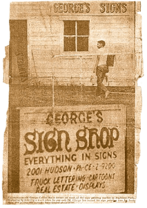 Georges first shop!