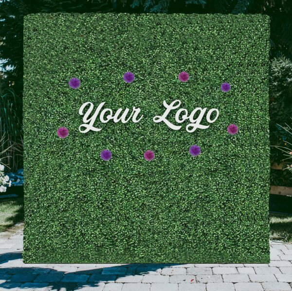 Add your logo and flowers for that extra flare!