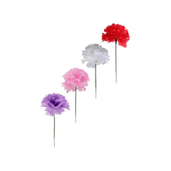 Assorted silk carnations