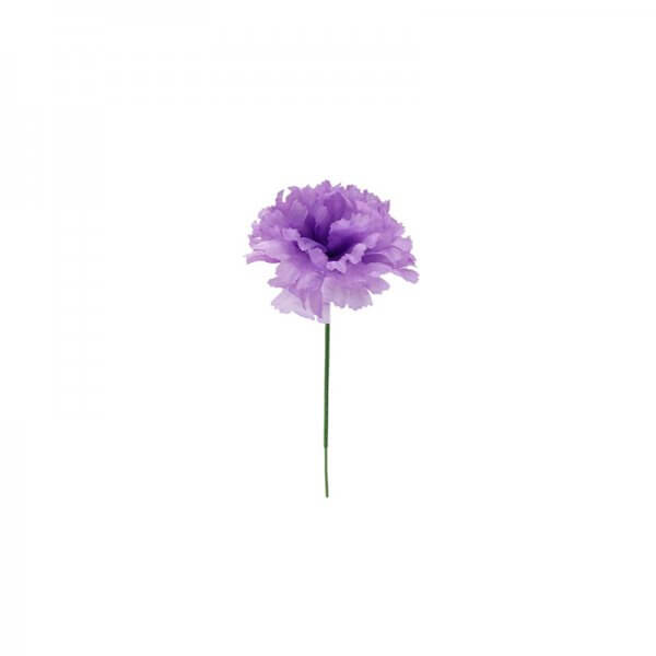 Lavender carnation silk flower