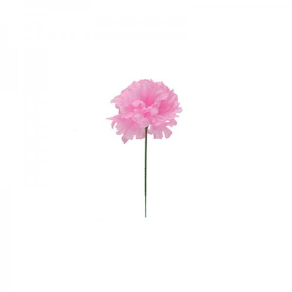 Pink carnation silk flower