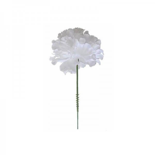 A white carnation silk flower