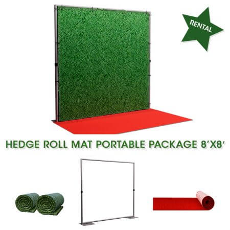 Hedge roll mat portable package 8' x 8'