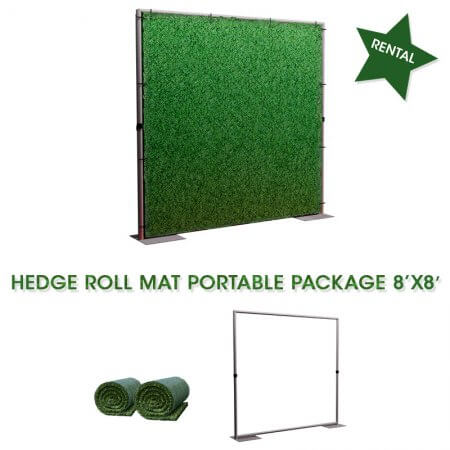 hedge wall 8x8 rental backdrop