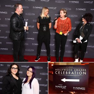 We printed an 8' x16' fabric step and repeat for the fourth annual Hollywood Award Celebration put on by Make-Up Artist magazine.