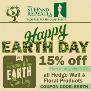 Celebrate Earth Day with us and get 15% off all hedge wall and floral products. Ends midnight on April 22.