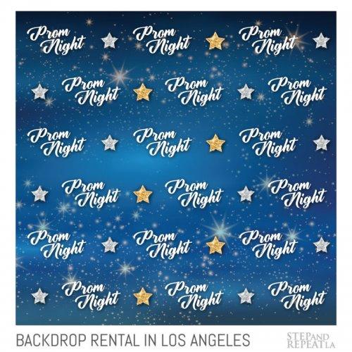 Prom Backdrop Banner Rental