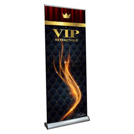 VIP retractable banner stand