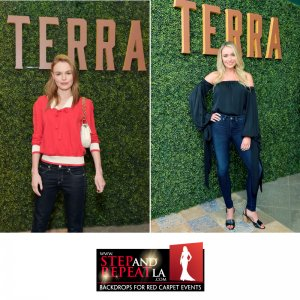 We printed & installed this #HedgeWall for the #Terra Grand Opening at @EatalyLA last March. #SophiaBush #KateBosworth, and #KatrinaBowden were just a few of the #celebrities striking a cool pose in front of our amazing looking hedge wall with the custom gold 'Terra' lettering! Terra is located on the rooftop of Eataly L.A. which hosts an al fresco terrace lounge with an active botanical garden, traditional Italian bar, fire pit, and more, as well as an indoor-outdoor dining space.