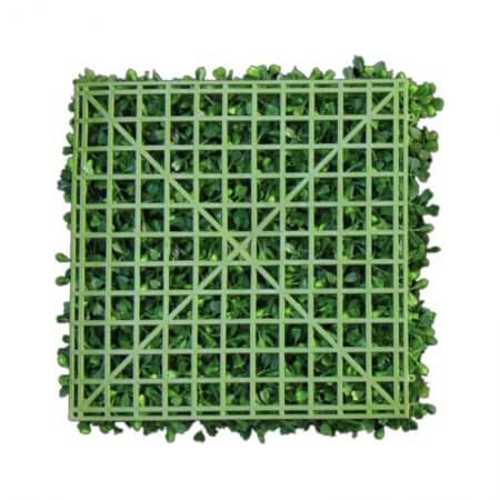 Back of 12 by 12 inch hedge wall foliage squares