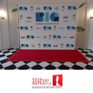 We printed this backdrop for BIG's, business inside the game, fundraiser/birthday party.