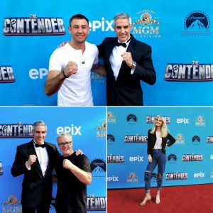 We printed this custom backdrop for 'The Contender' season premiere party.