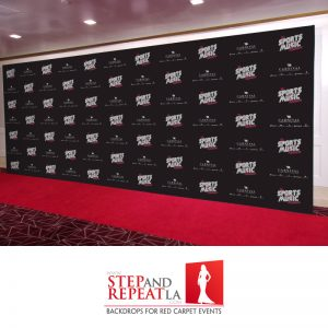 We did this 8' x 20' fabric media wall for The Sport & Music Weekend.