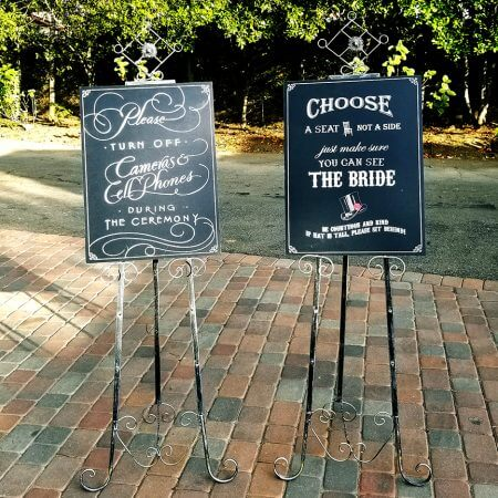 Custom ceremony signs