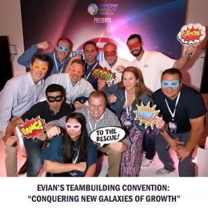 Evian's Team-building convention!