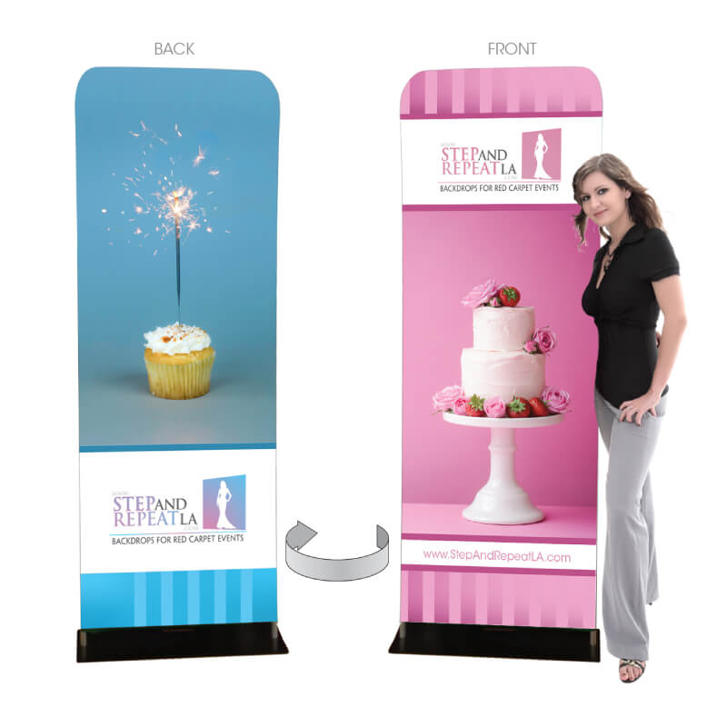 3 by 7 and a half foot Fabric Stretch Display