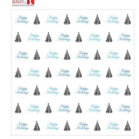 Holiday Step and Repeat Banner Rental