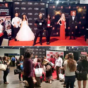 Step and Repeat LA exhibits once again at Wedding MBA! This year showcasing the new reversible fabric stretch display in different sizes as well as custom bride and groom standups!!