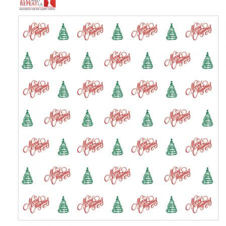 Christmas Step and Repeat Banner Rental