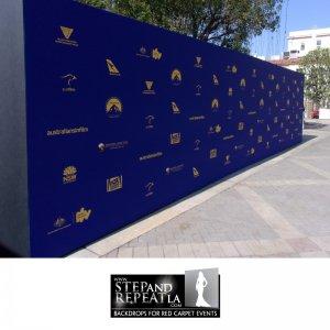 Impressive 8' x 32'media wallfor Australians in Film Awards