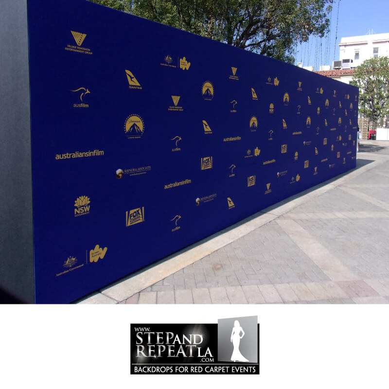 An impressive 8 by 32 foot media wall for Australians in Film Awards