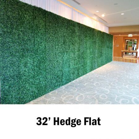 32 Foot Seamless Hedge Flat Wall