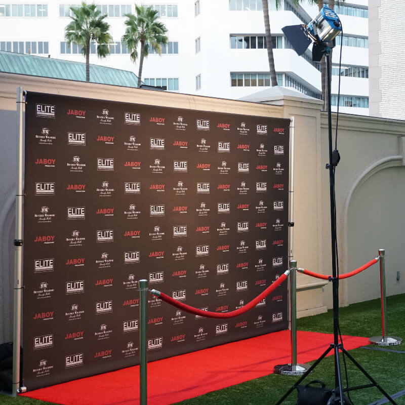 8' x 12' polyester fabric backdrop