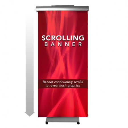 Scrolling Banner Stand