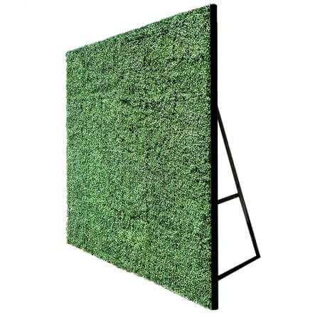 Standard 8'x8' hedge flat side view