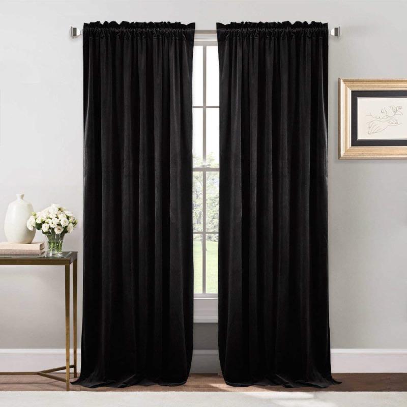 Velvet Blackout Curtain Panels Step And Repeat La