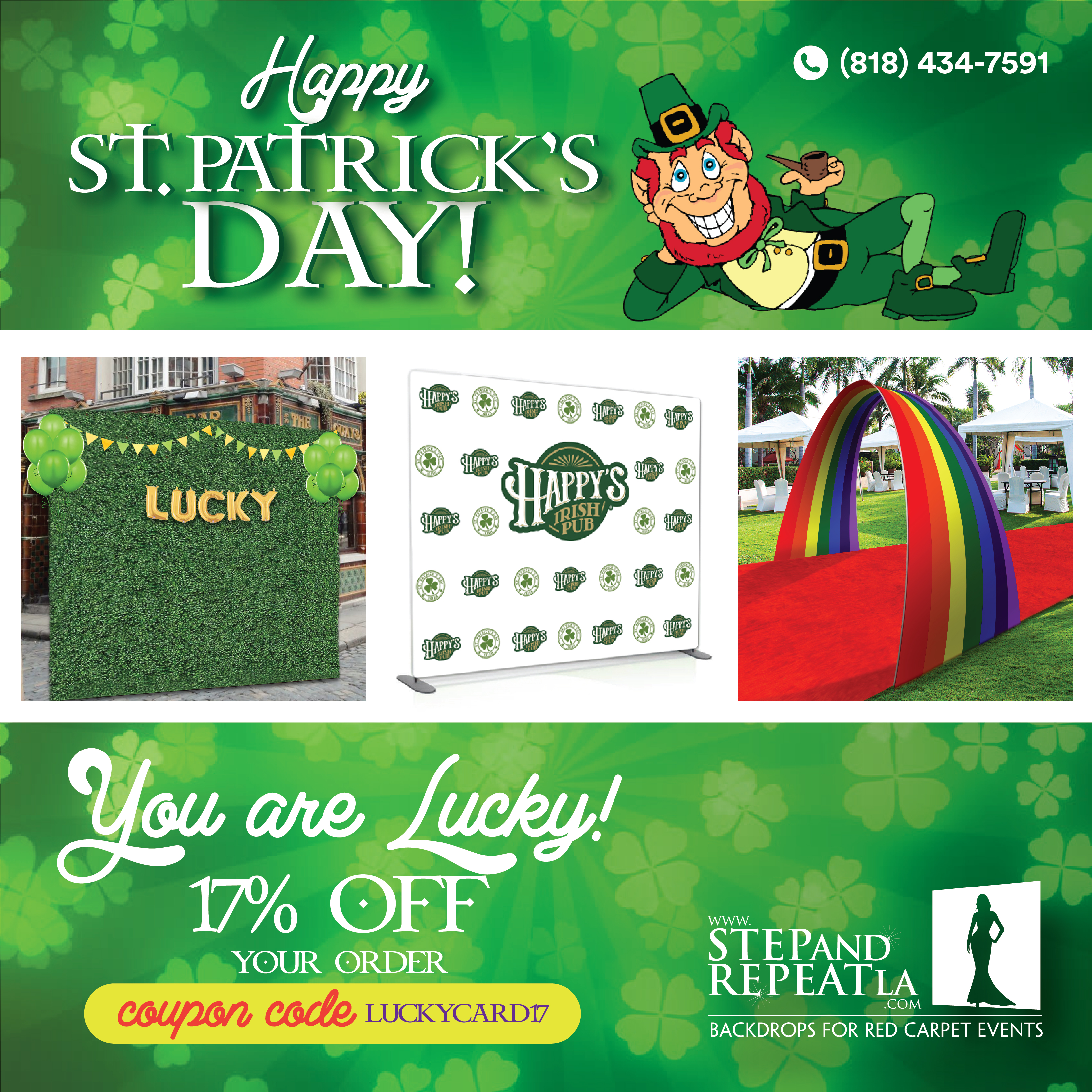 St. Patrick's Day Sale! 17% off your entire order!