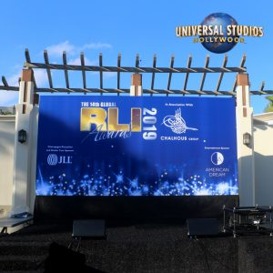 Huge Stage Media Wall Presentation for RLI Global Awards