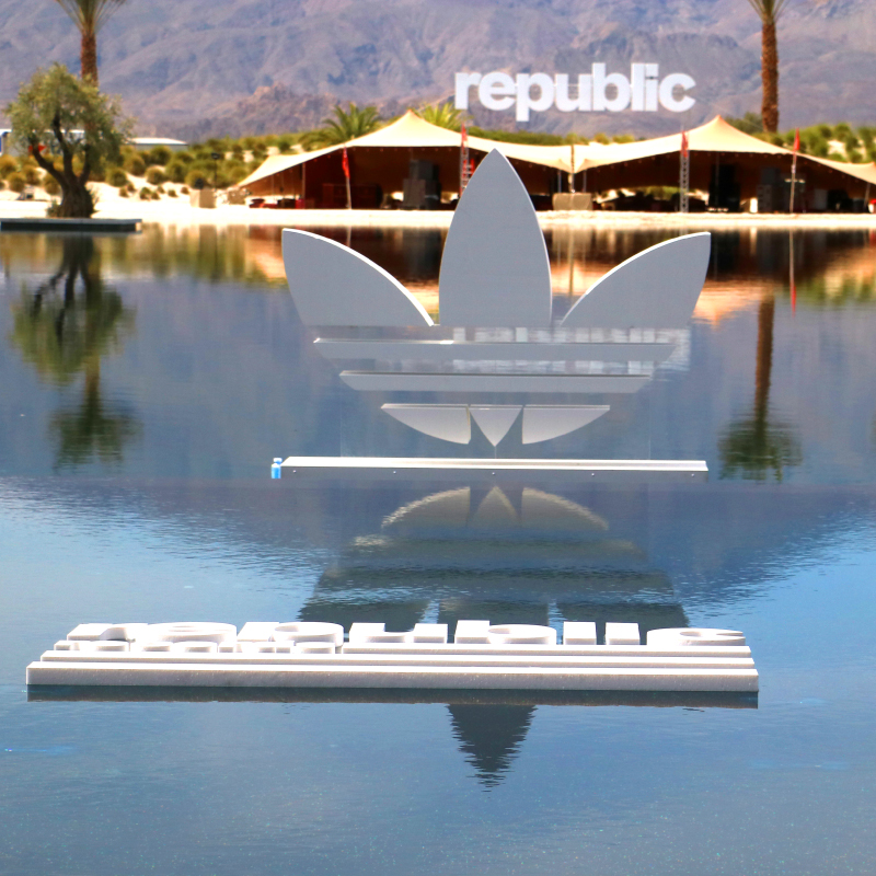 We fabricated and installed this amazing Republic Records flag pool float!