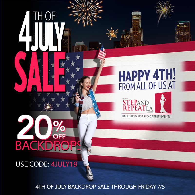 Happy 4th of July Sale! 20% off all backddrops!