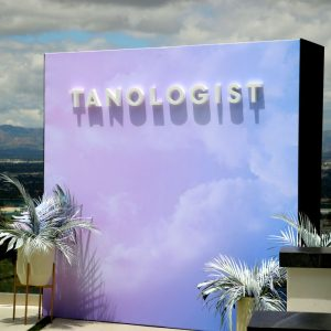 Tanologist media wall by Step and Repeat LA