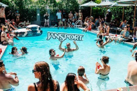 Jansport, pool float by Step and Repeat LA